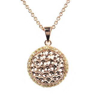Collette Z Gold Plated Sterling Silver Cubic Zirconia Ball Pendant 17057342