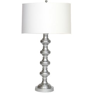 Grey Turned Lamp with Silver Guilding