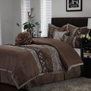 Riley Taupe 7-piece Comforter Set
