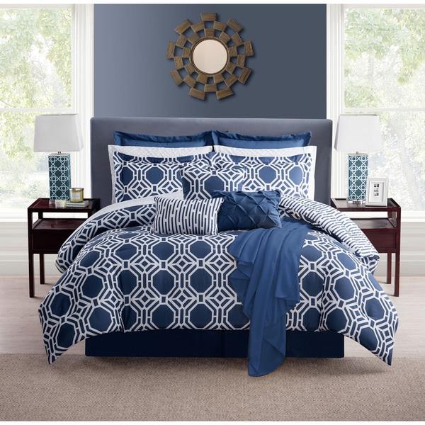 VCNY Milford Hexagon 16 Piece Comforter Set