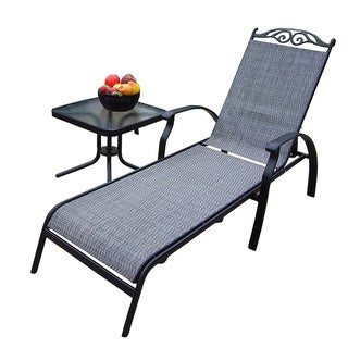 Premium Aluminum Framed Sling 2-piece Chaise Lounge Set