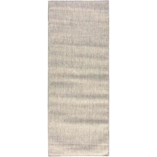 Jardin Collection Solid Indoor/Outdoor Runner Rug (2'7 x 7'3)