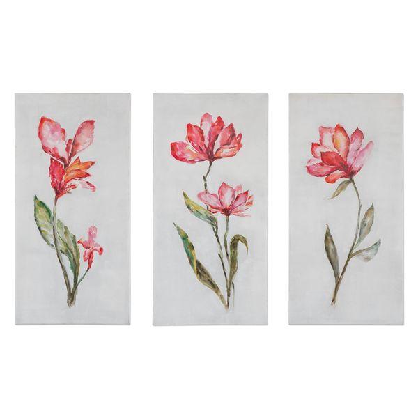 Springtime Promise Floral Art (Set of 3)