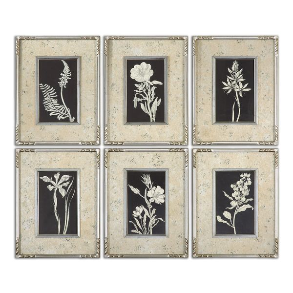 Glowing Florals Framed Art (Set of 6)