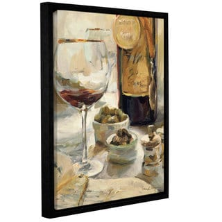 ArtWall Marilyn Hageman's Award Winning Wine 1, Gallery Wrapped Floater-framed Canvas