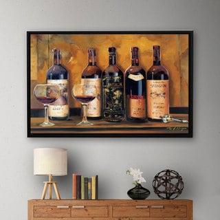 ArtWall Marilyn Hageman's Cellar Reds, Gallery Wrapped Floater-framed Canvas