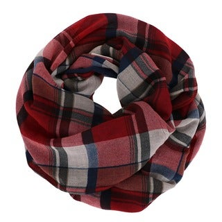 Solid/ Plaid Infinity Scarf