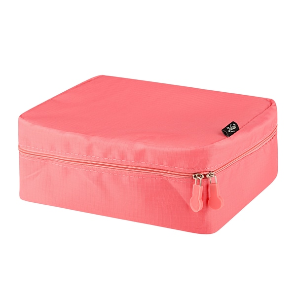 Zodaca Women Coral Travel Cosmetic Bag Makeup Case Toiletry Organizer Pouch