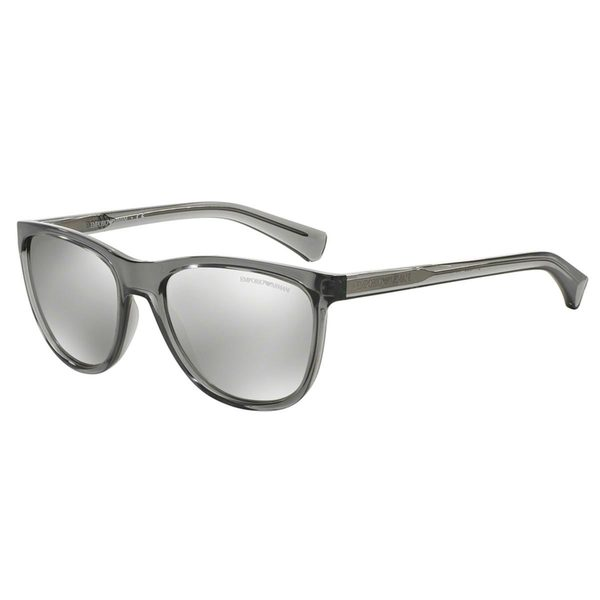 Emporio Armani Men's EA4053 Grey Plastic Square Sunglasses