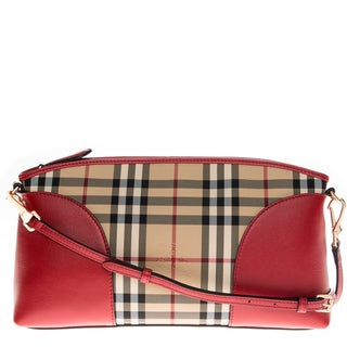 Burberry Horseferry Check and Leather Clutch