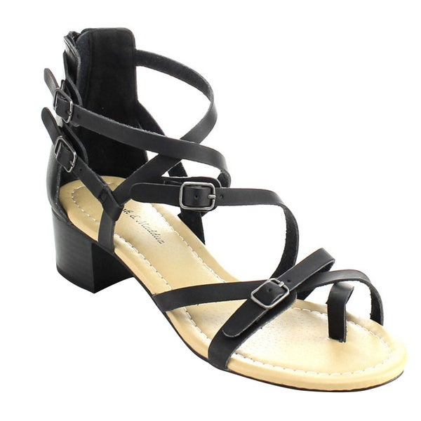 MARK and MADDUX STANLEY-06 Women's Strappy Heeled Sandals