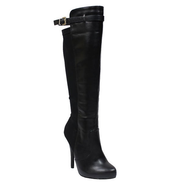 Beston DA52 Woman's Heeled Knee High Boots
