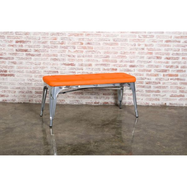 Orange Double Lounge Bench