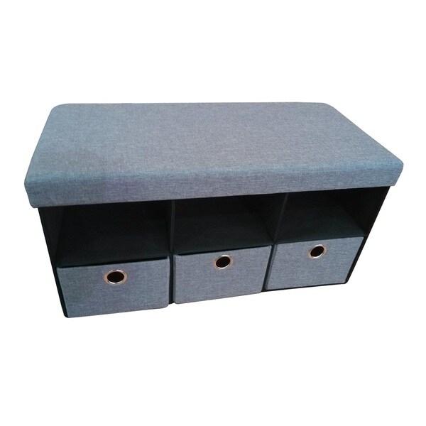 Hodedah Folding Storage Bench