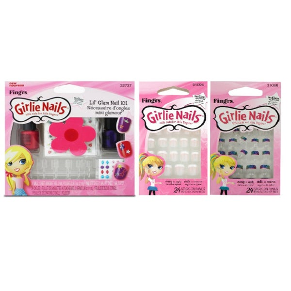 Girlie Nails 3-piece Stick On Nails Collection