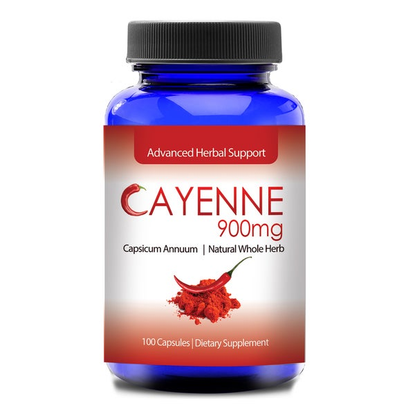 Cayenne 900 MCG for Healthy Digestion (100 Capsules)