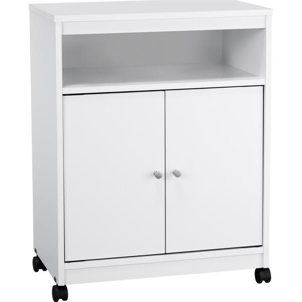 Altra White Kitchen Microwave Cart
