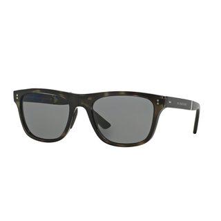 Burberry Men's BE4204 Grey Plastic Square Polarized Sunglasses
