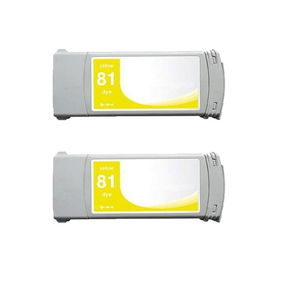 2-pack Compatible C4933A #81 Ink Cartridge for HP DesignJet 5000 5500 (Pack of 2)