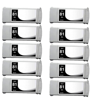 10-pack Compatible C4930A #81 Ink Cartridge for HP DesignJet 5000 5500 (Pack of 10)