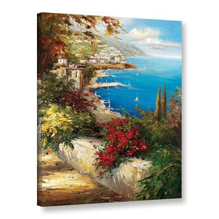 ArtWall 0 Axiano's Village By The Sea, Gallery Wrapped Canvas
