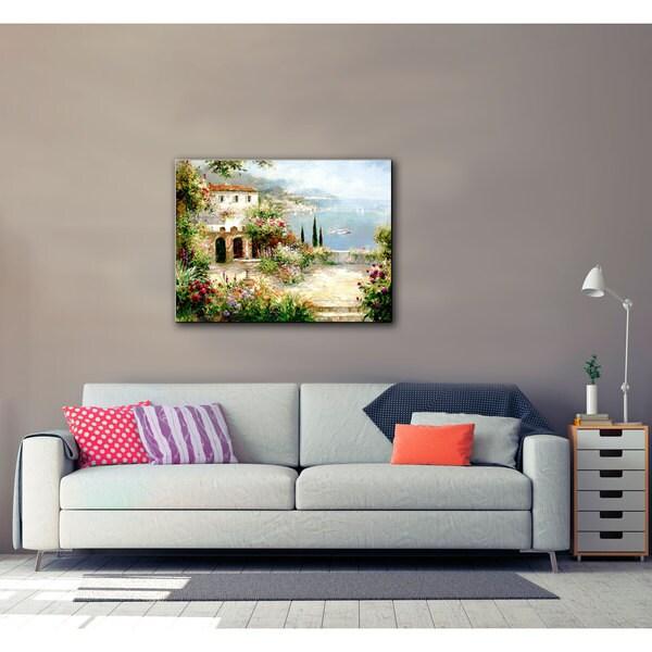 ArtWall Peter Bell's Mediterranean Villa, Gallery Wrapped Canvas
