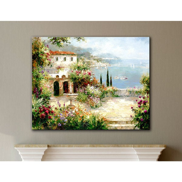 ArtWall Peter Bell's Mediterranean Villa, Gallery Wrapped Canvas