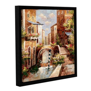 ArtWall Peter Bell's Venice Canal II, Gallery Wrapped Floater-framed Canvas