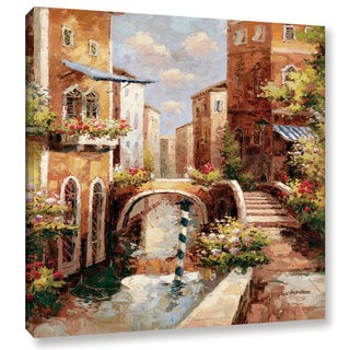ArtWall Peter Bell's Venice Canal II, Gallery Wrapped Canvas