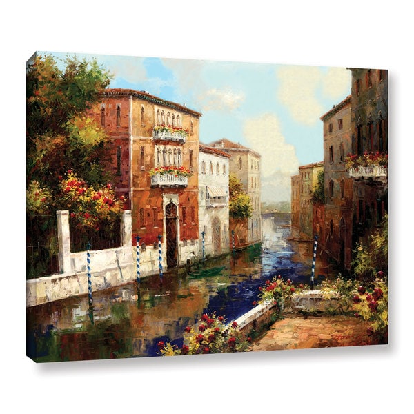 ArtWall Peter Bell's Sleepy Canal, Gallery Wrapped Canvas