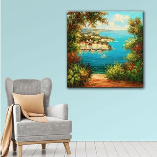ArtWall Peter Bell's Harbor Outlook, Gallery Wrapped Canvas