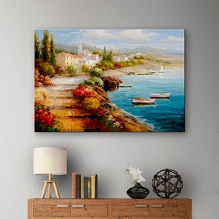 ArtWall 0 Catano's Seaside Steps, Gallery Wrapped Canvas