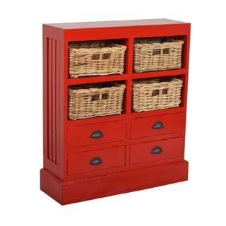 Akadahome 72 Inch Single Door Walnut Storage Cabinet
