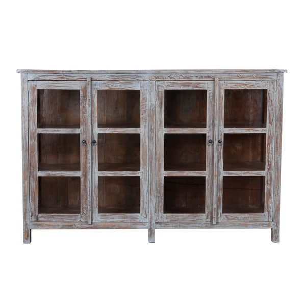 The Ezra Sideboard with Open Glass doors