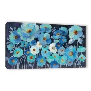 ArtWall Silvia Vassileva's Indigo Flowers, Gallery Wrapped Canvas
