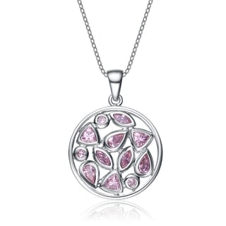 Collette Z Sterling Silver Light Pink Cubic Zirconia Pendant