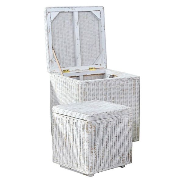 The Noah Storage Set of two in White
