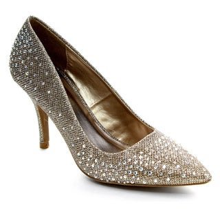 Qupid SAFFIR-08 Women's Jeweled Pump