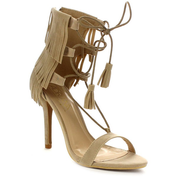 Beston DA19 Women's Fringe Lace Up Heels