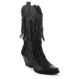 Beston DA64 Women's Fringe Cowboy Boots