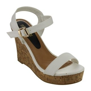 Beston EA48 Women's Platform Cork Wedge Sandals