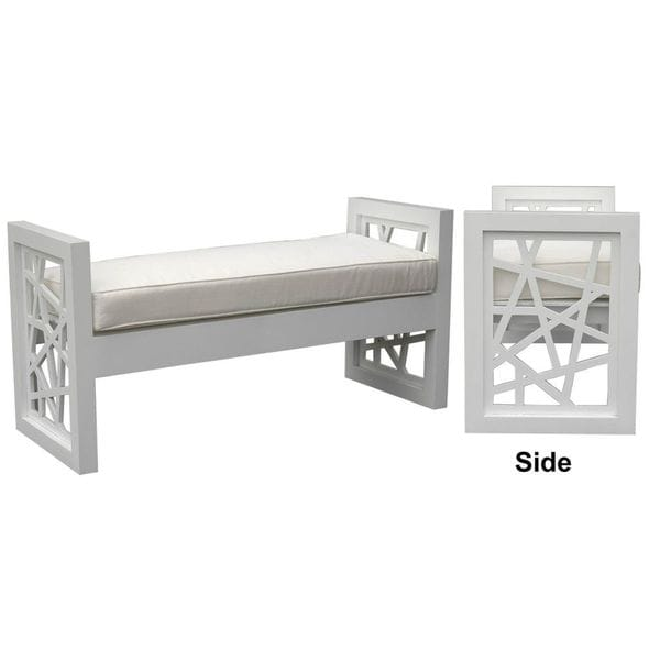 The Manatee Bench Bolster Rubbed White