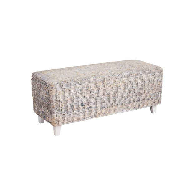 The Palm Bench with Storage-White