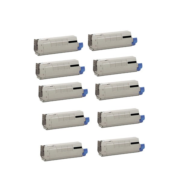 10-pack Compatible 44318604 Toner Cartridge for Oki C711 C711N C711DN C711DTN (Pack of 10)
