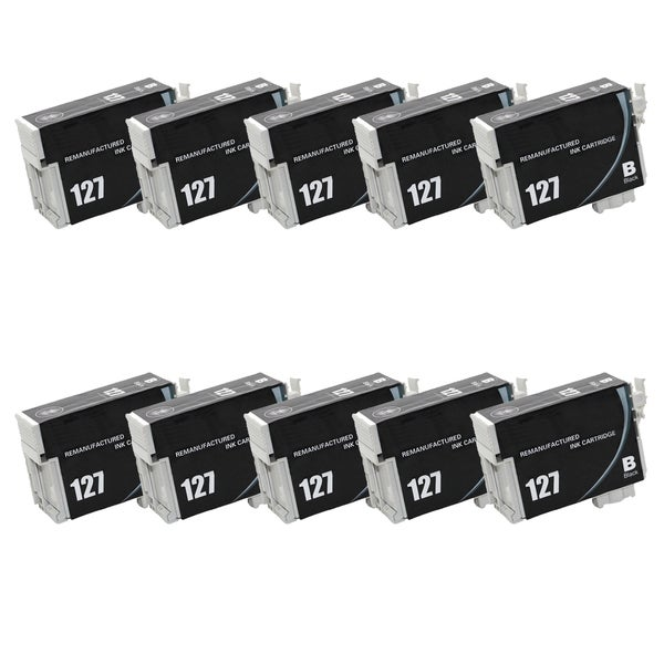 10-pack Compatible T127120 Black Ink Cartridge for Epson Stylus NX530 NX625 WorkForce 545 630 (Pack of 10)