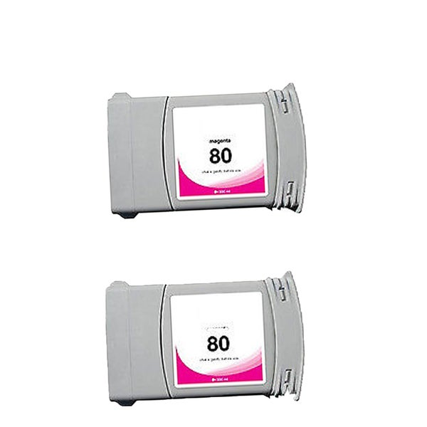 2-pack Compatible C4847A #80 Ink Cartridge for HP DesignJet 1000 1050 1055 (Pack of 2)