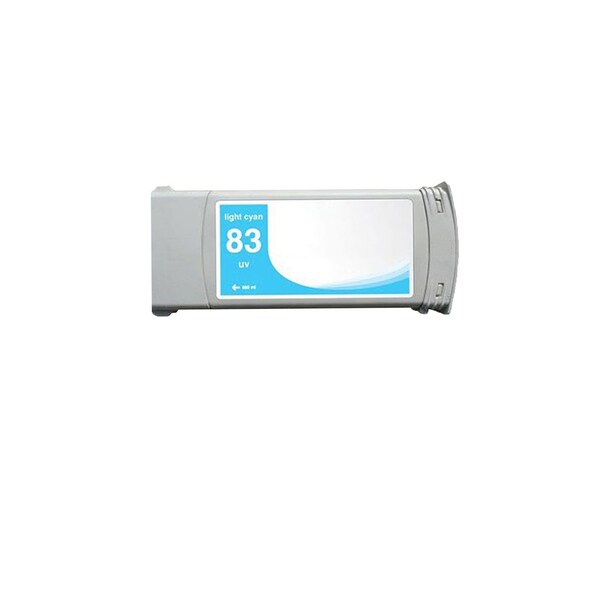 1-pack Compatible C4944A #83 Light Cyan Ink Cartridge for HP DesignJet 5000 5500 (Pack of 1)