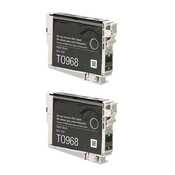 2-pack Compatible T096820 Matte Black Ink Cartridge for Epson Stylus Photo R2880 (Pack of 2)