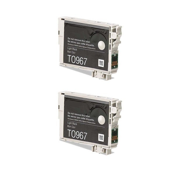 2-pack Compatible T096720 Light Black Ink Cartridge for Epson Stylus Photo R2880 (Pack of 2)