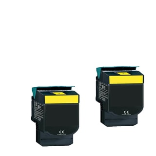2-pack Compatible C544X1YG Toner Cartridge for Lexmark C540N C543DN C544DN C544DTN C544DW C544N (Pack of 2)